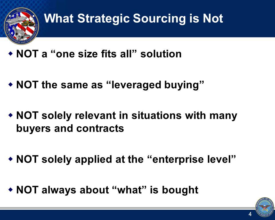 DoD Strategic Sourcing Framework