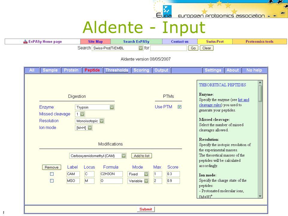 Aldente - Input