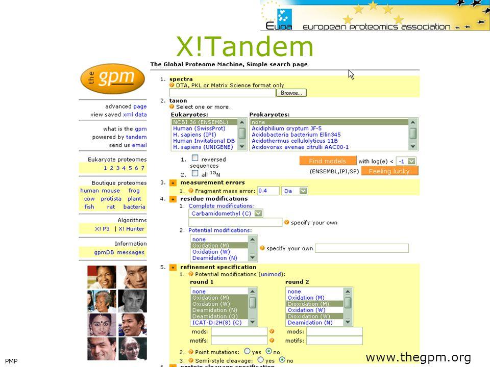 X!Tandem www.thegpm.org