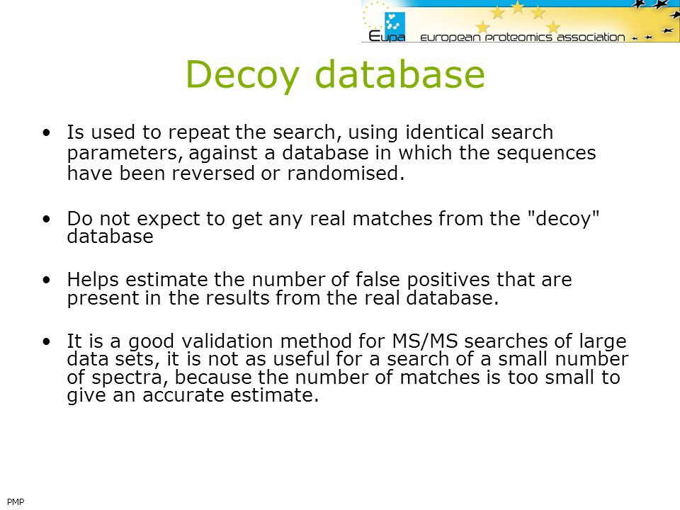 Decoy database