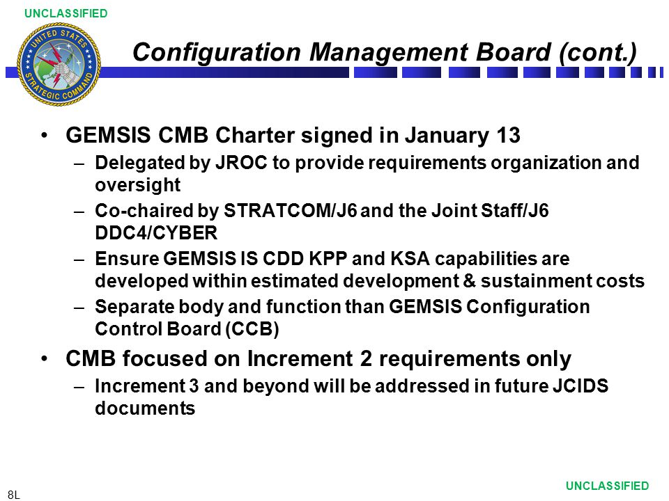 Configuration Management Board (cont.)
