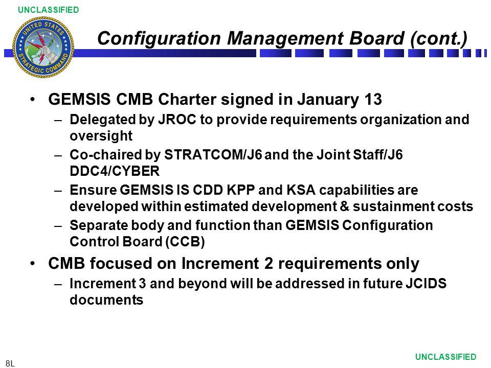 Configuration Management Board (cont.)