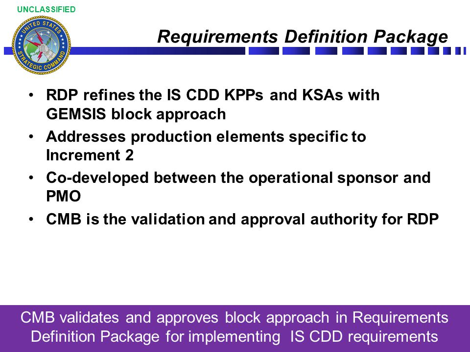 Requirements Definition Package
