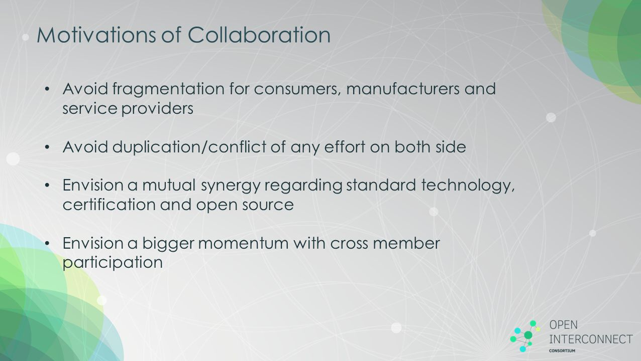 Motivations of Collaboration