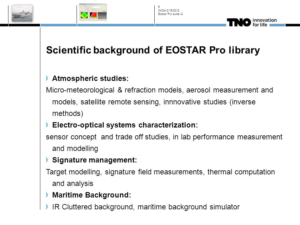 Scientific background of EOSTAR Pro library