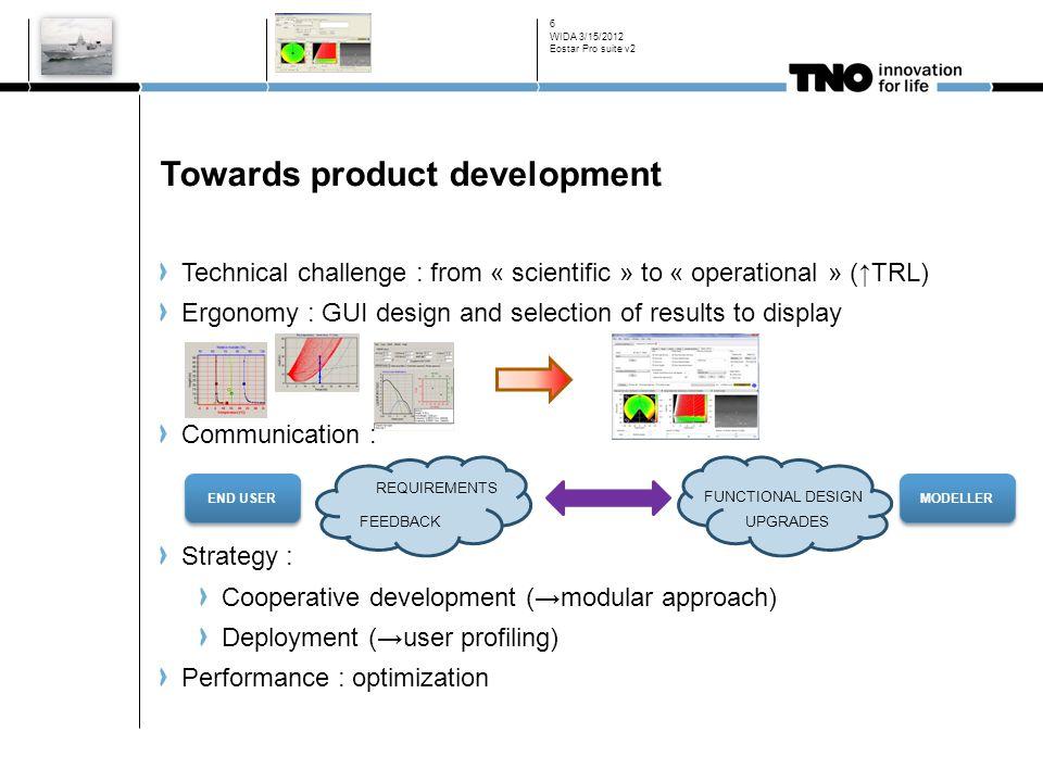 Towards product development