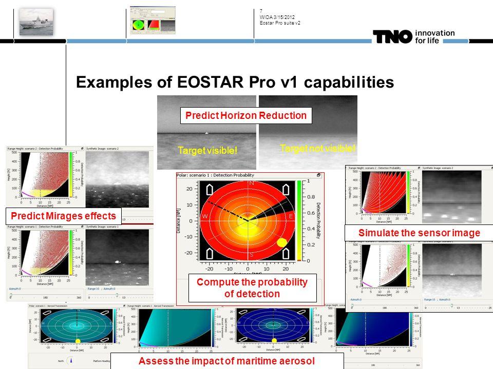 Examples of EOSTAR Pro v1 capabilities