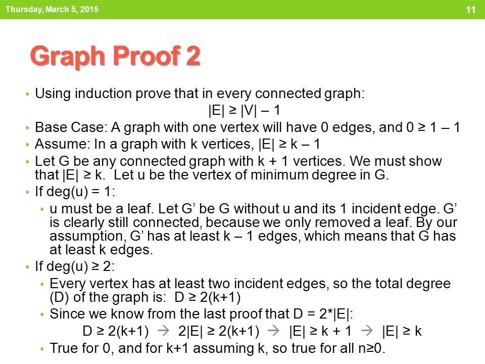 D ≥ 2(k+1)  2|E| ≥ 2(k+1)  |E| ≥ k + 1  |E| ≥ k