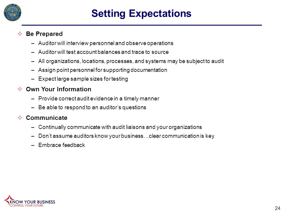Setting Expectations Be Prepared Own Your Information Communicate