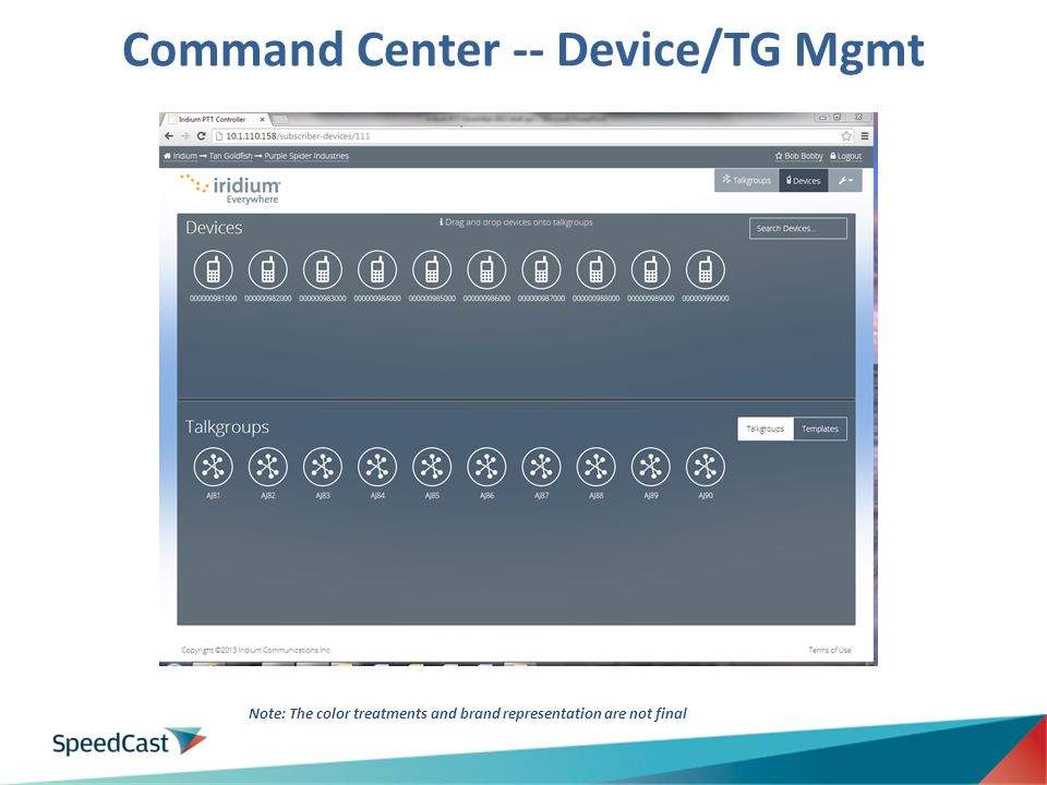Command Center -- Device/TG Mgmt