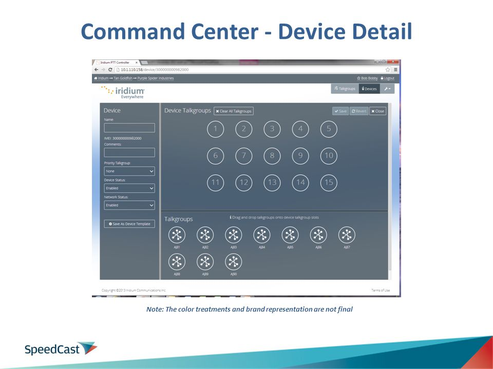 Command Center - Device Detail