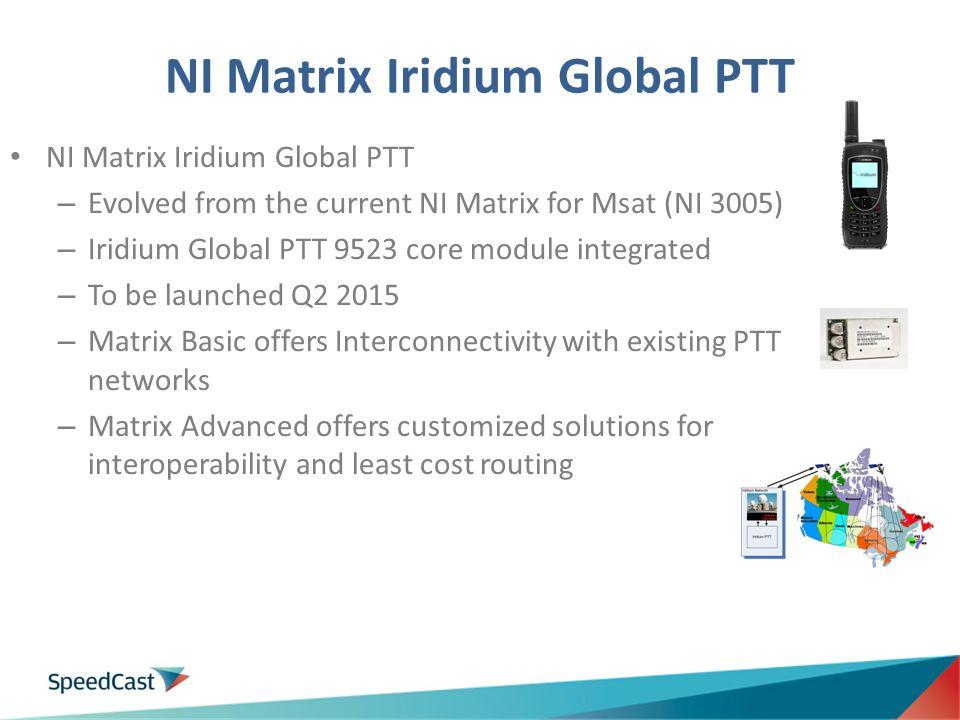 NI Matrix Iridium Global PTT