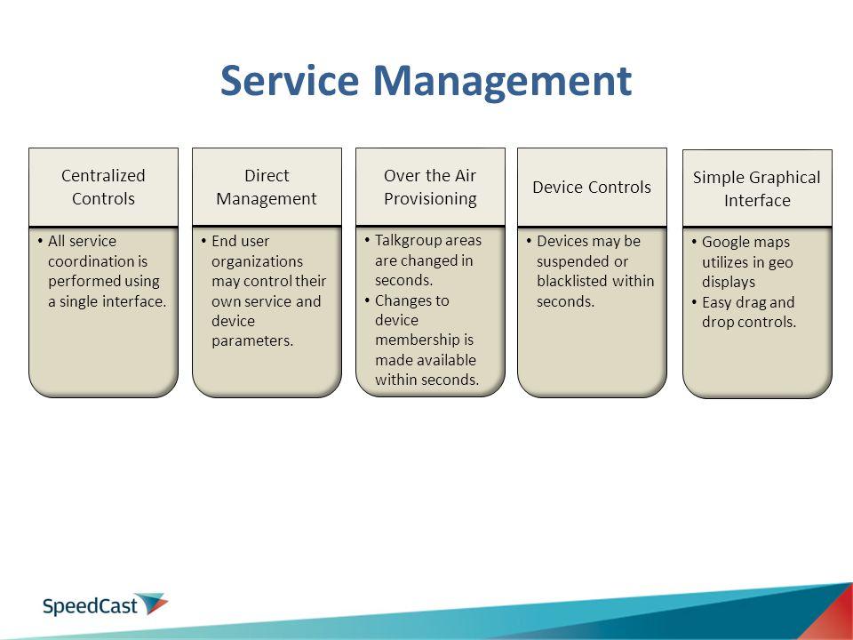 Service Management Centralized Controls Direct Management