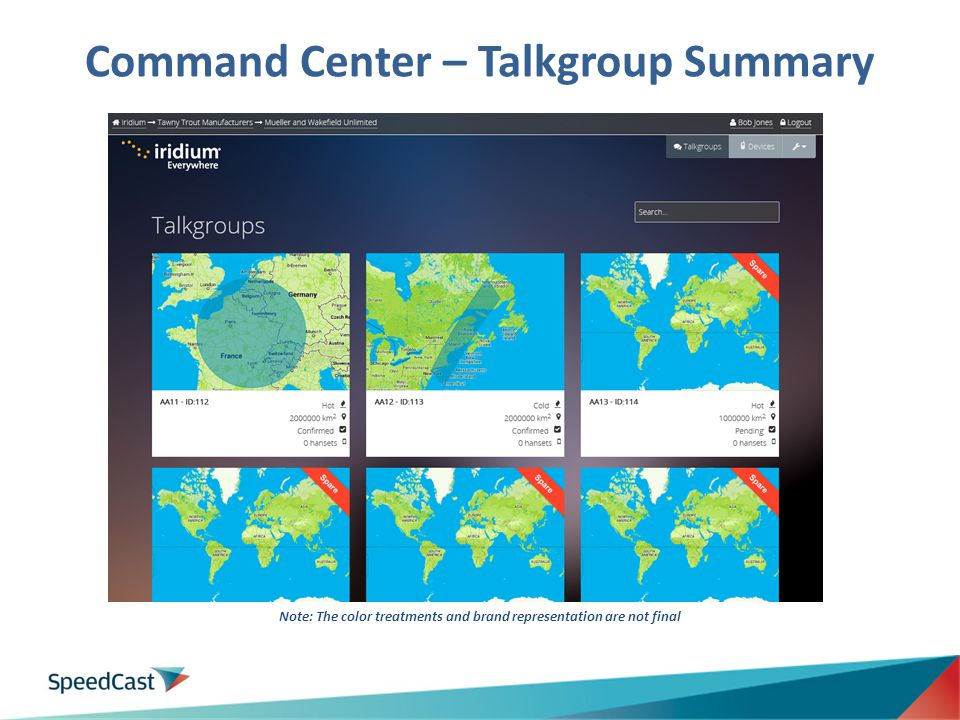 Command Center – Talkgroup Summary