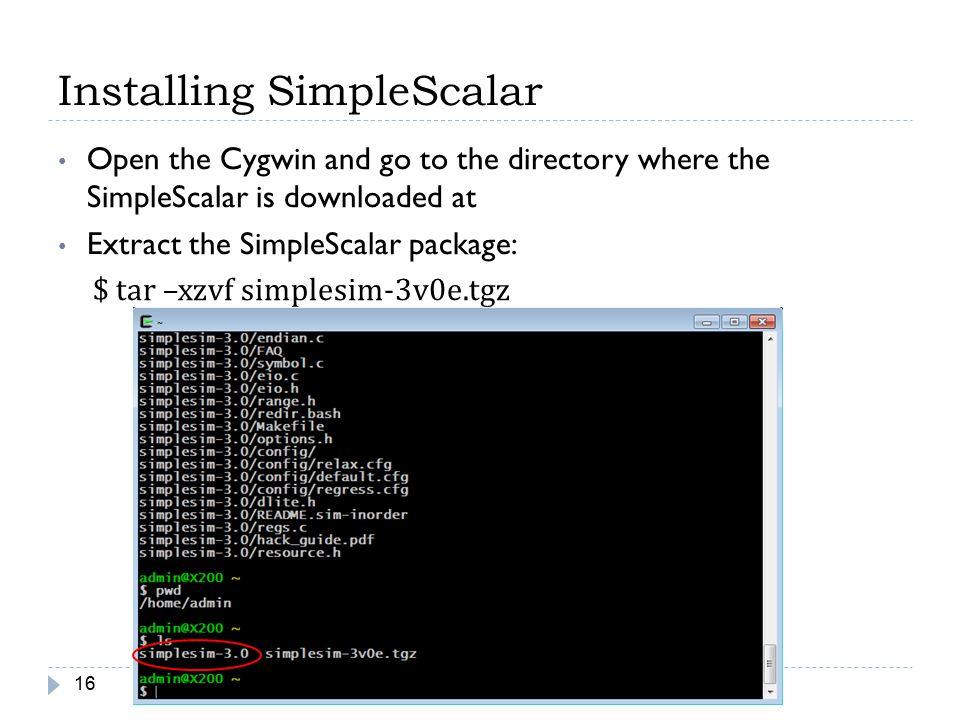 Installing SimpleScalar