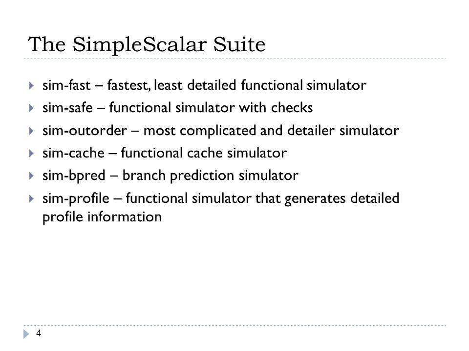 The SimpleScalar Suite