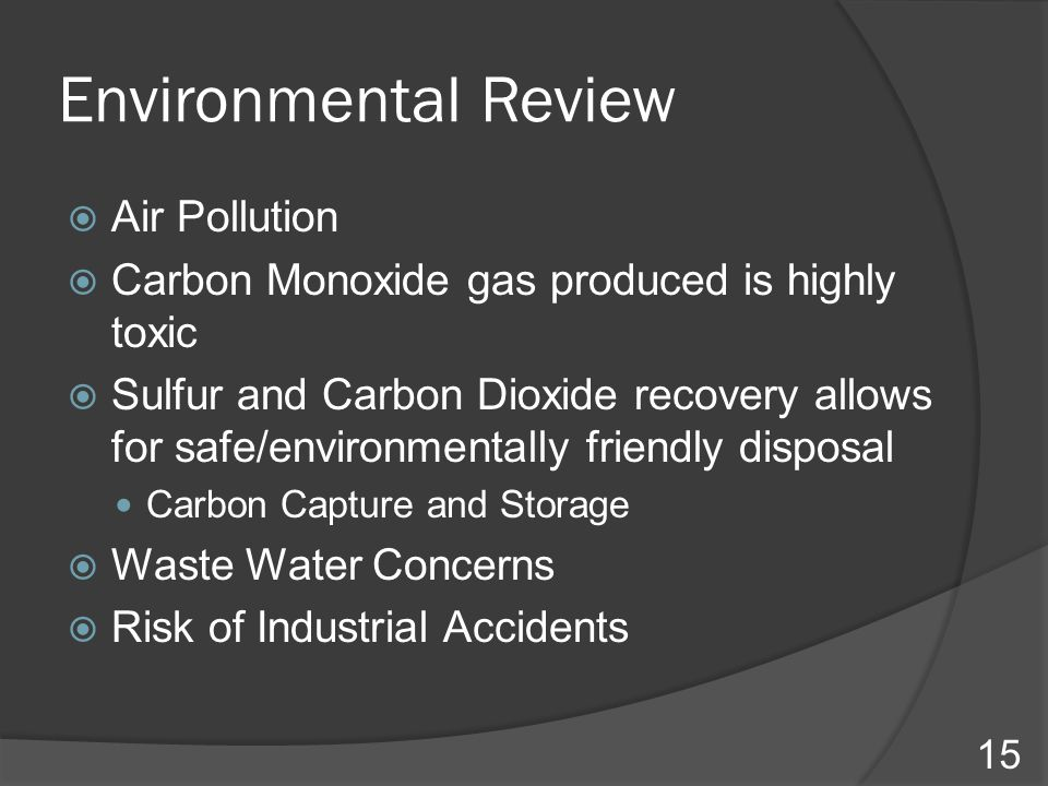 Environmental Review Air Pollution