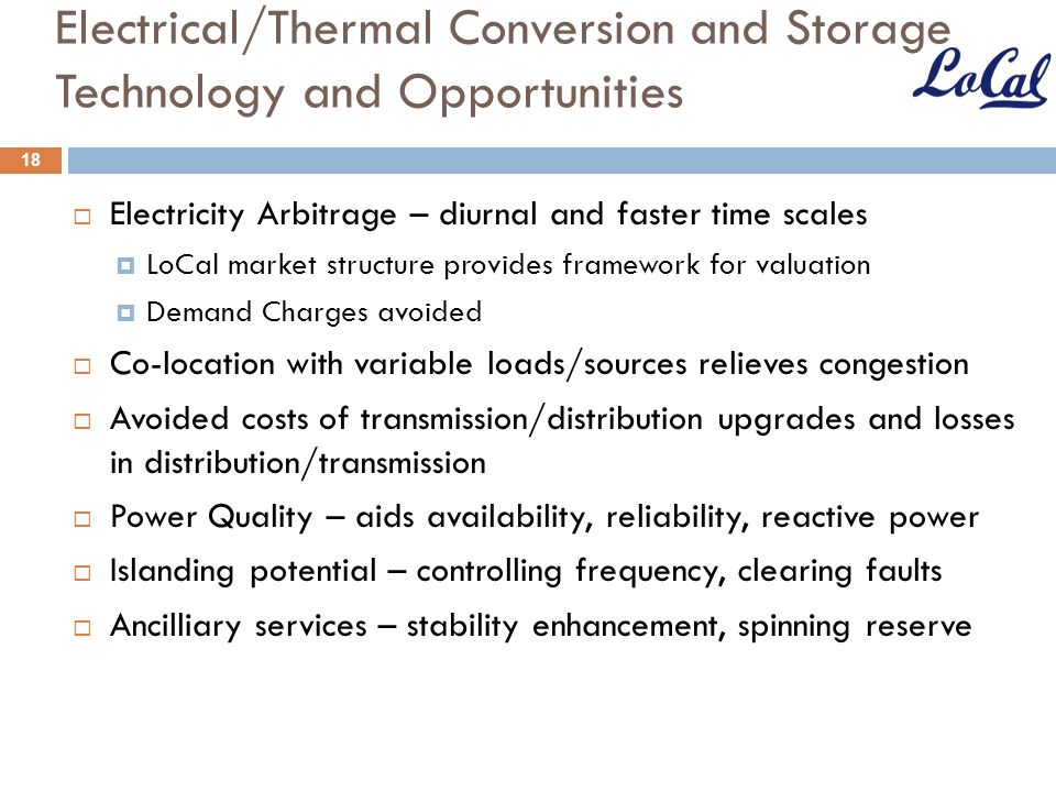 Electrical/Thermal Conversion and Storage Technology and Opportunities