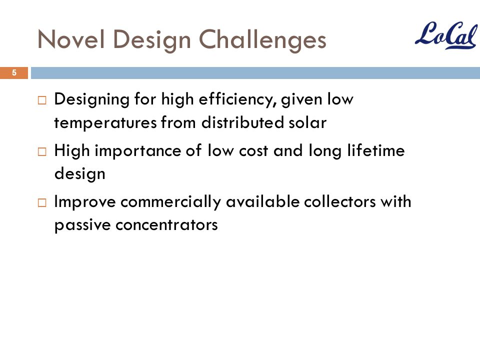 Novel Design Challenges