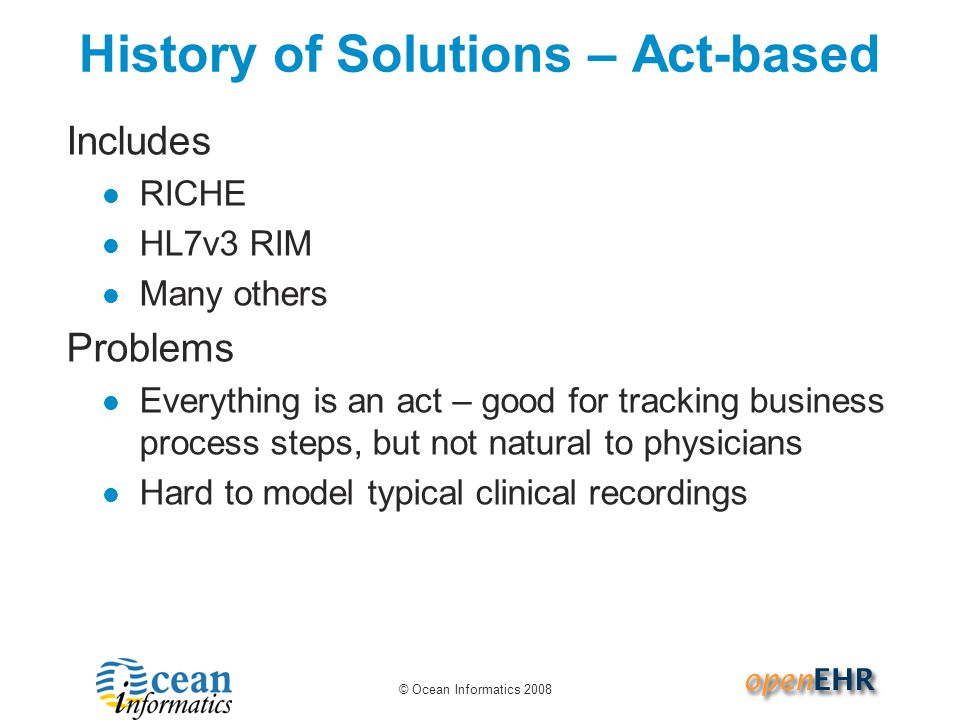History of Solutions – Act-based