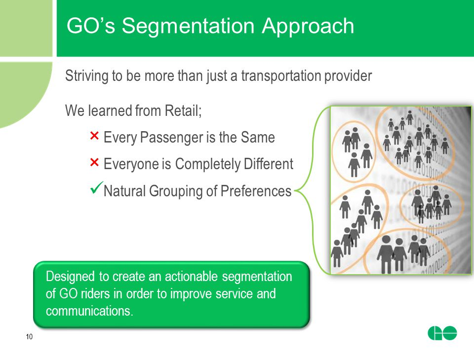 GO's Segmentation Approach