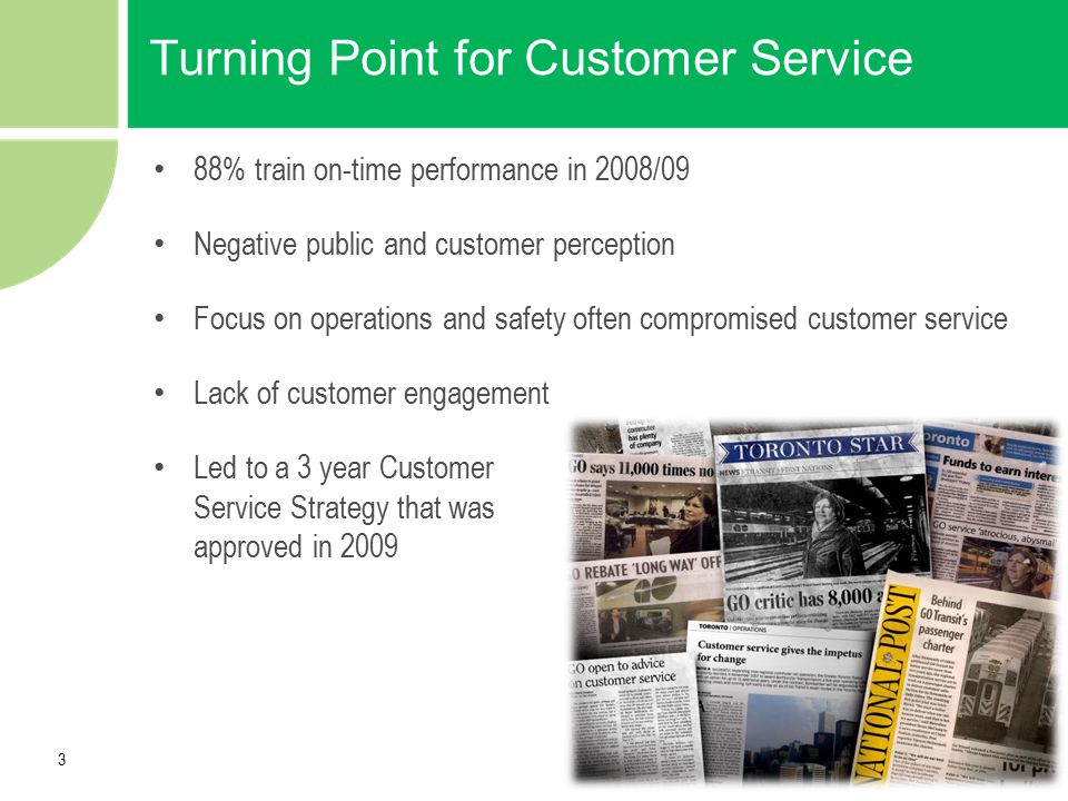 Turning Point for Customer Service
