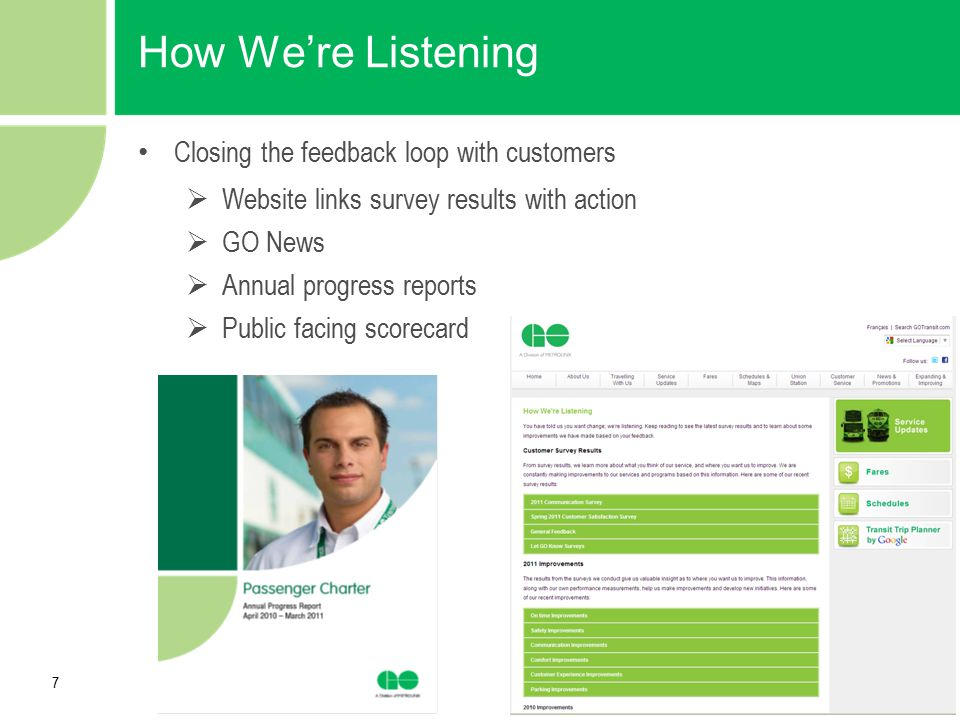 How We're Listening Closing the feedback loop with customers