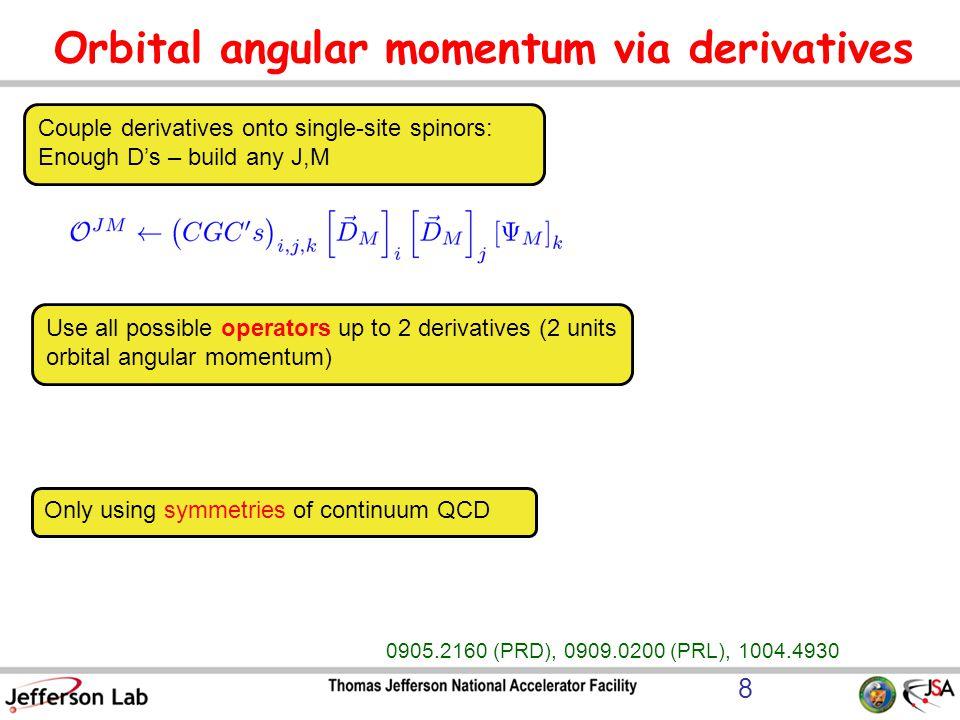 Orbital angular momentum via derivatives