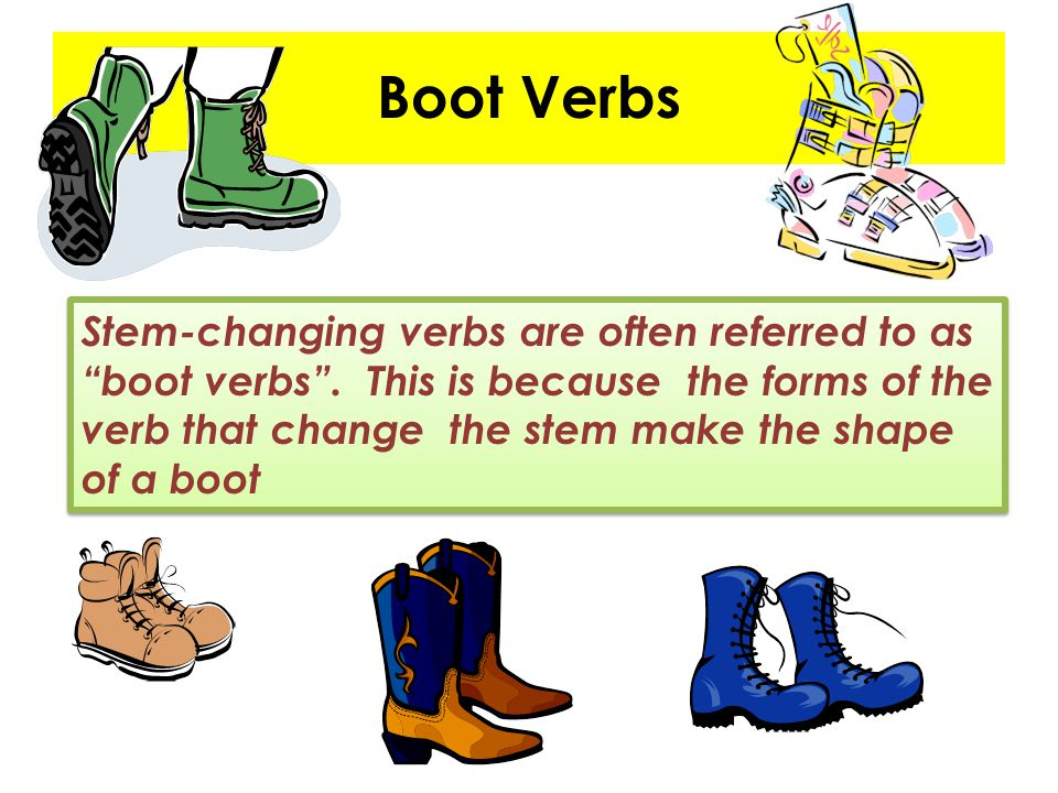 Boot Verbs