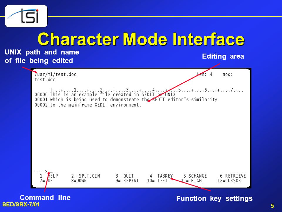 Character Mode Interface