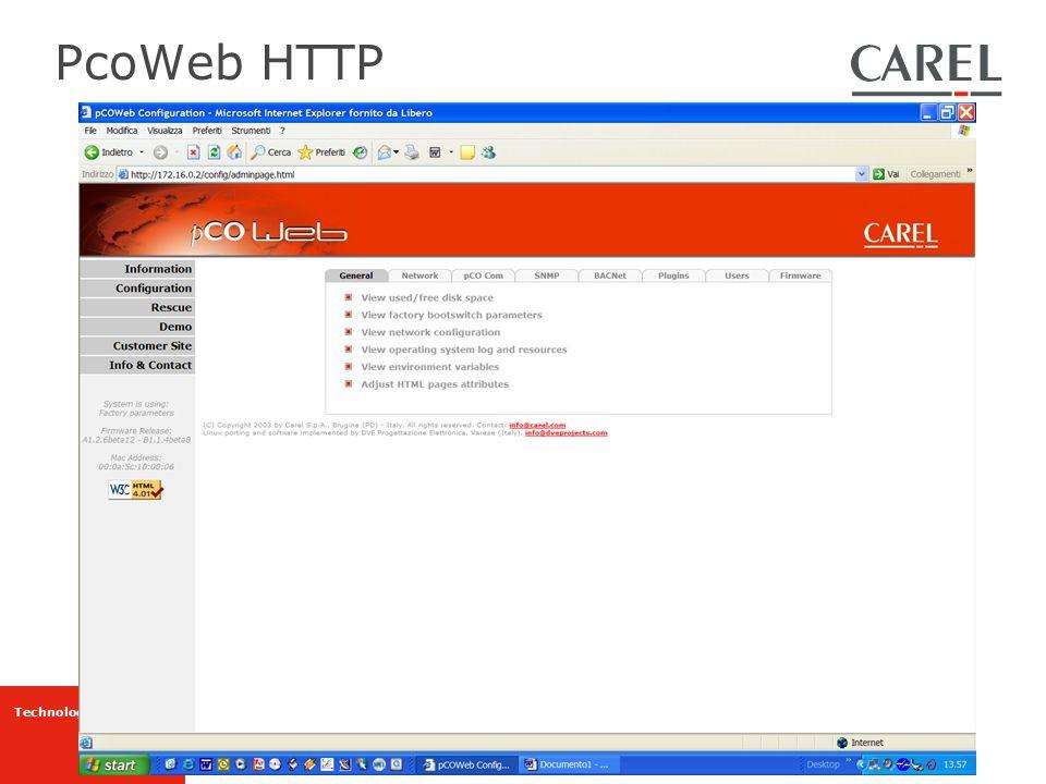 PcoWeb HTTP