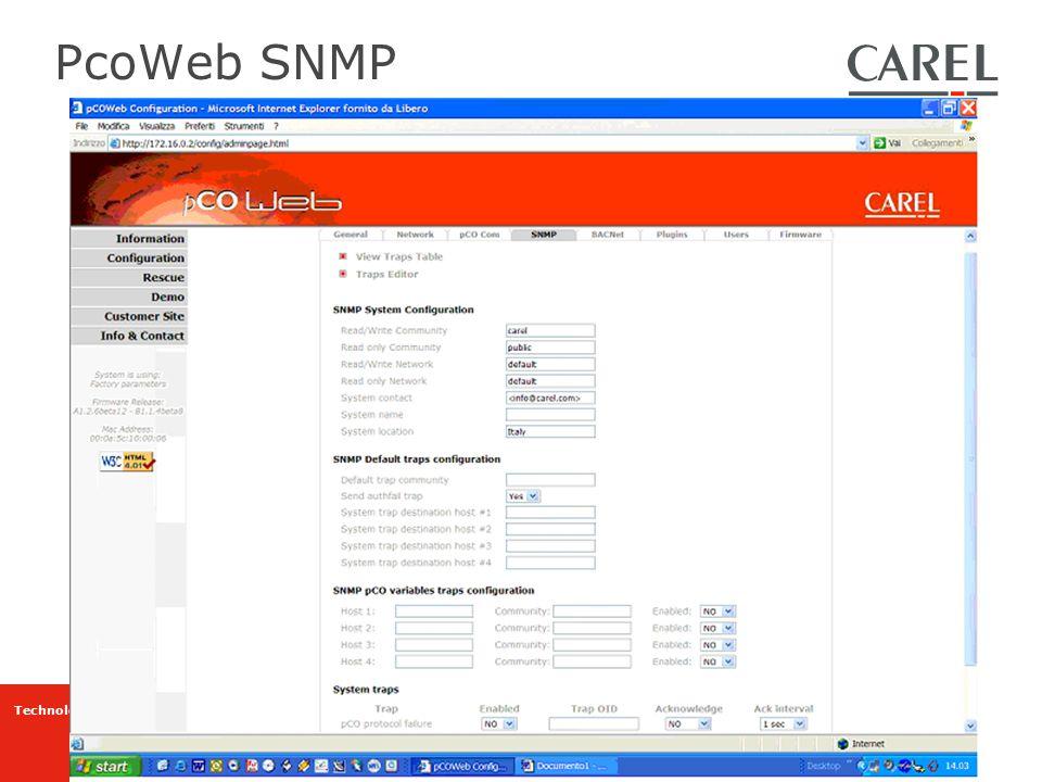 PcoWeb SNMP
