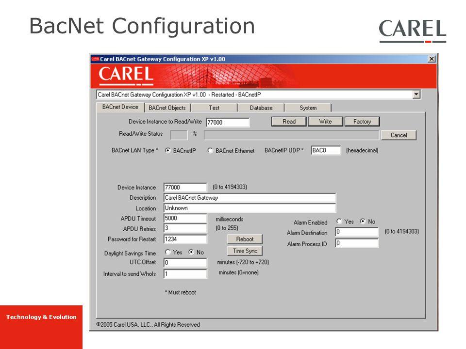 BacNet Configuration