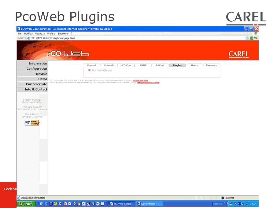 PcoWeb Plugins