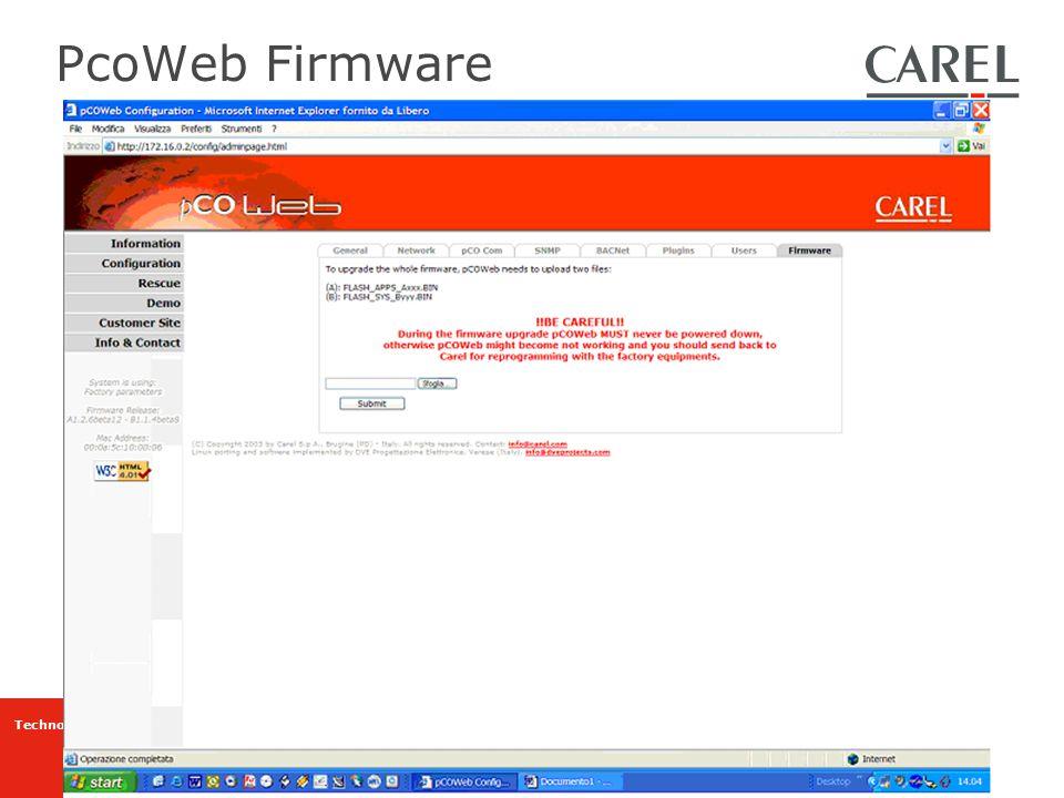 PcoWeb Firmware