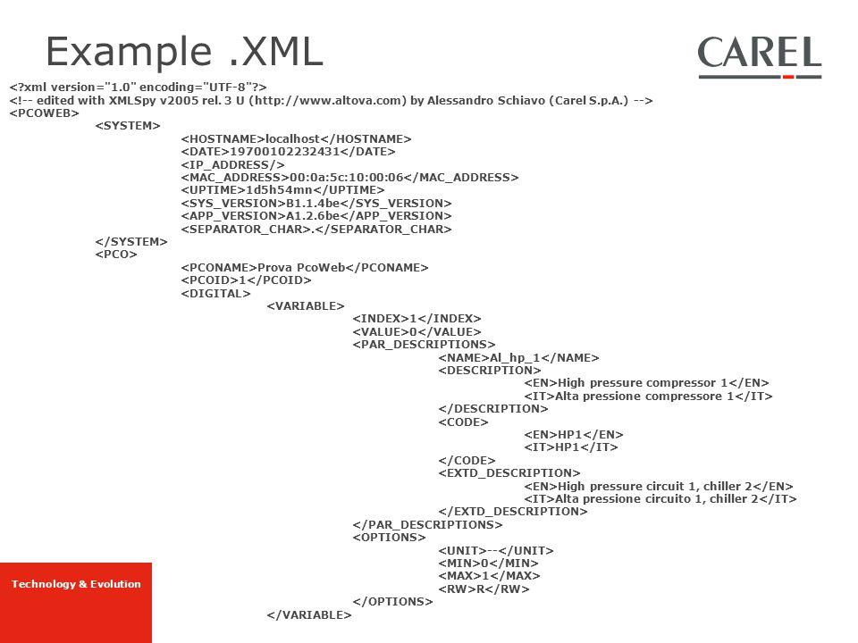 Example .XML < xml version= 1.0 encoding= UTF-8 >