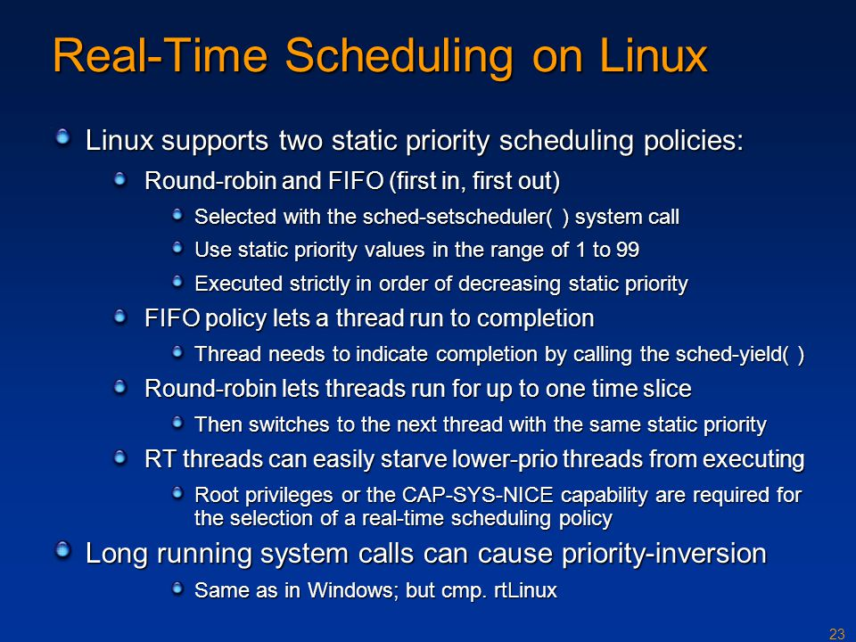 Real-Time Scheduling on Linux