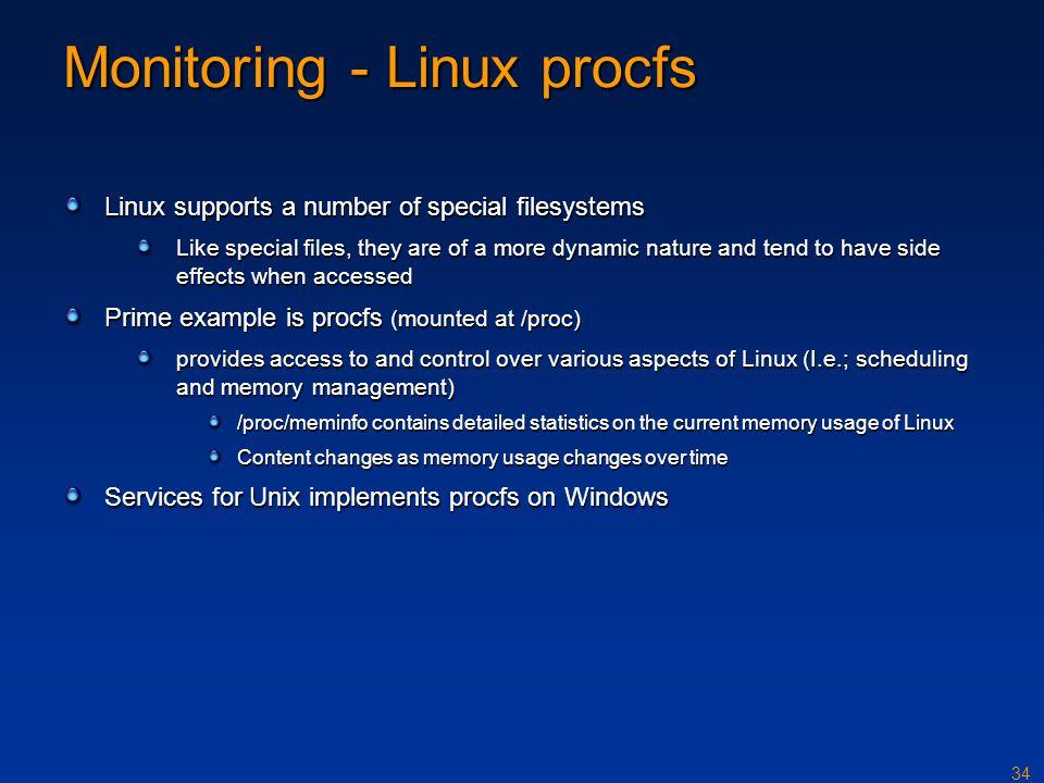 Monitoring - Linux procfs