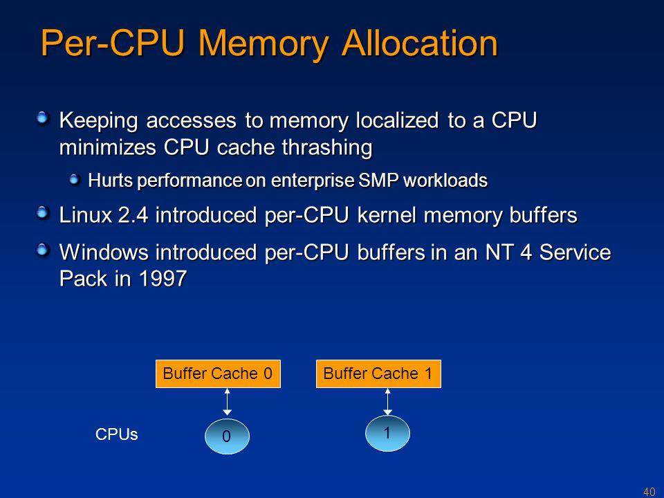 Per-CPU Memory Allocation