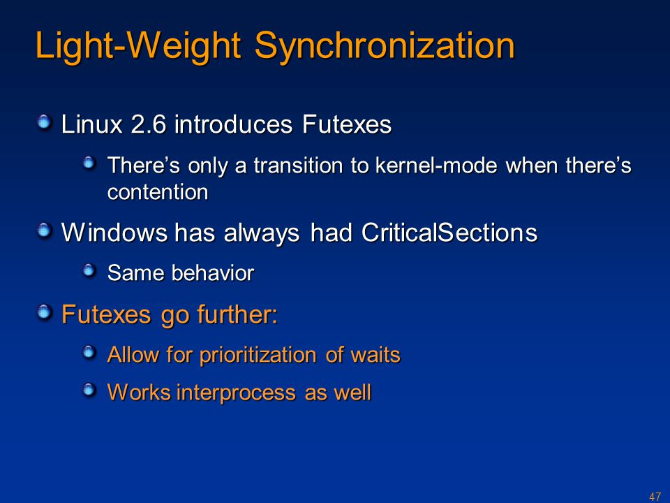Light-Weight Synchronization