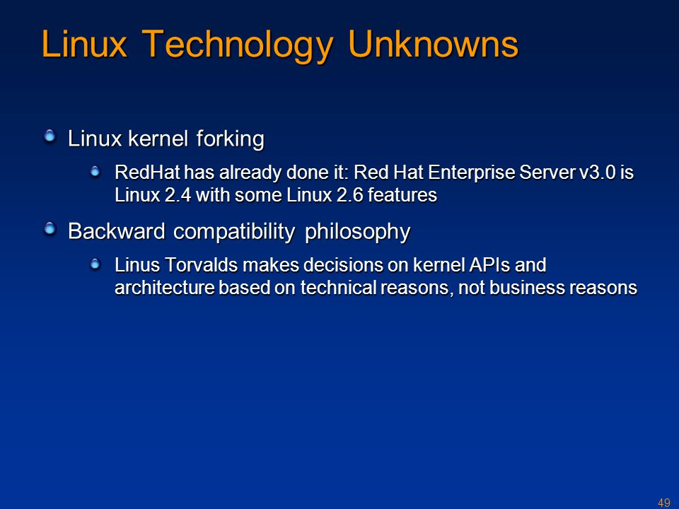 Linux Technology Unknowns