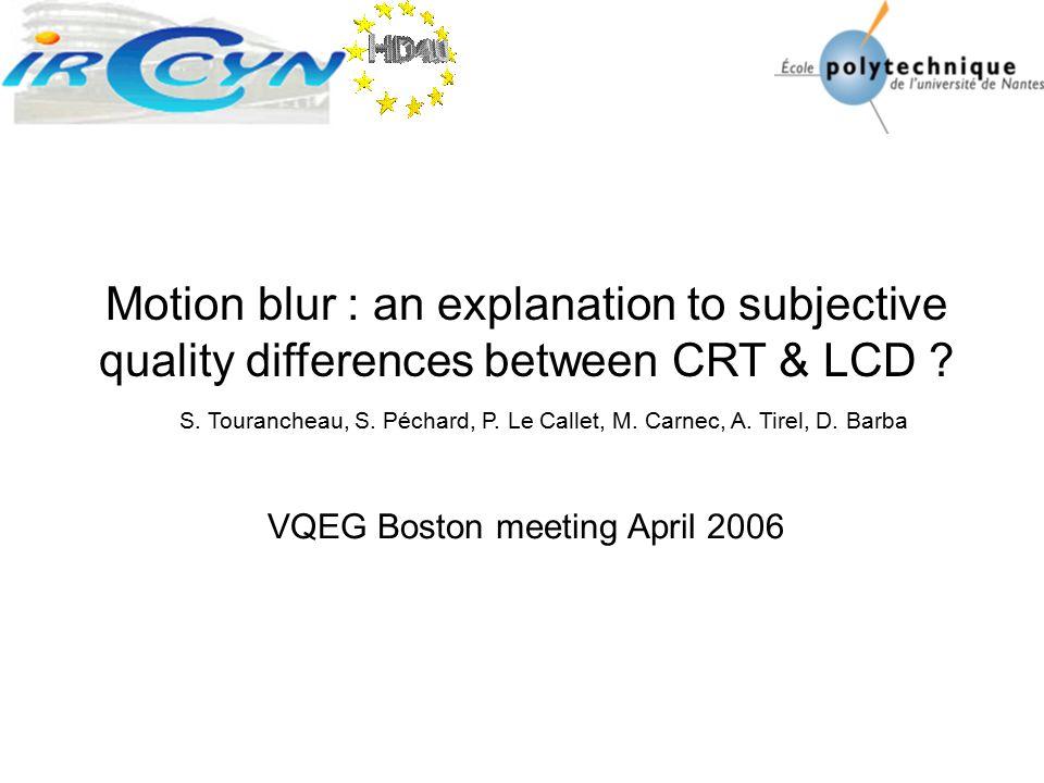 VQEG Boston meeting April 2006