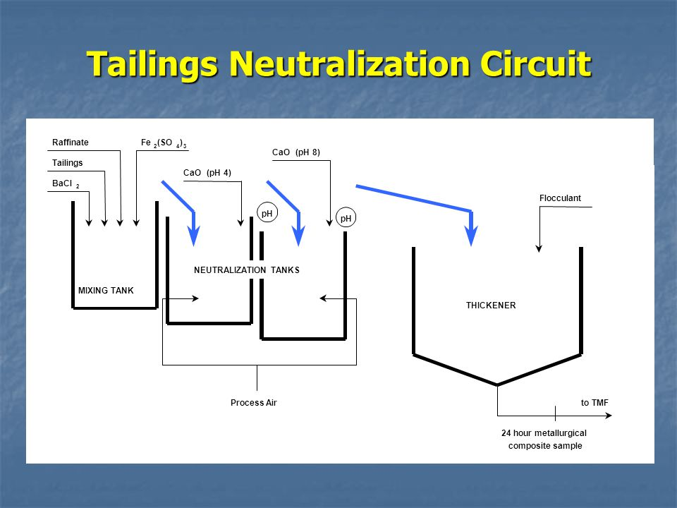 Tailings Neutralization Circuit