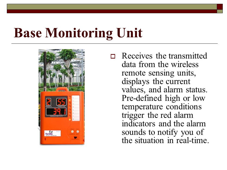 Base Monitoring Unit