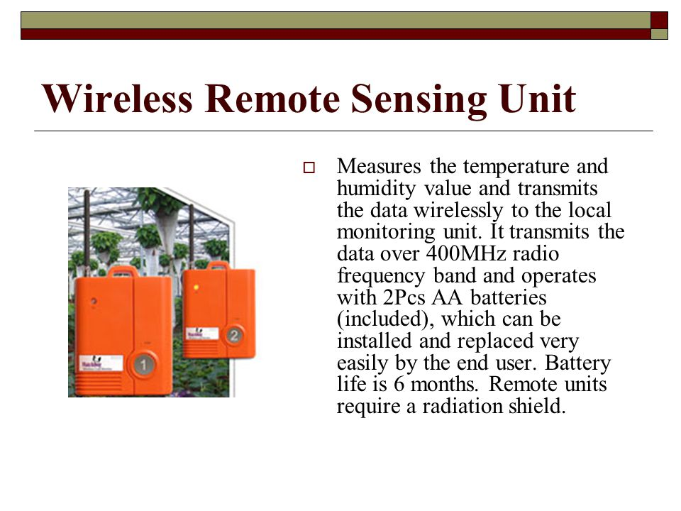 Wireless Remote Sensing Unit
