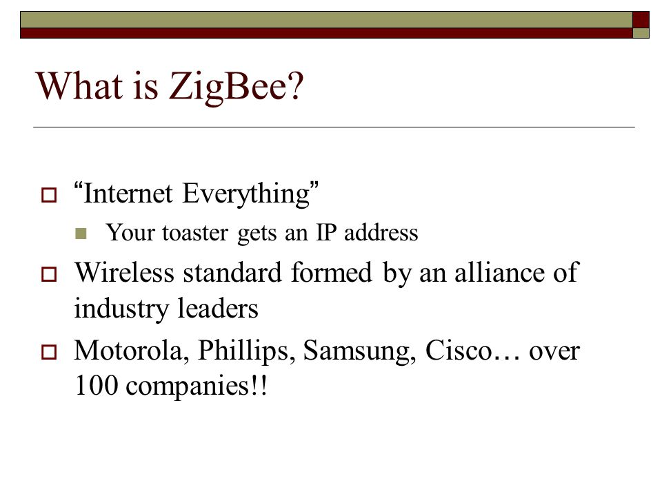 What is ZigBee Internet Everything