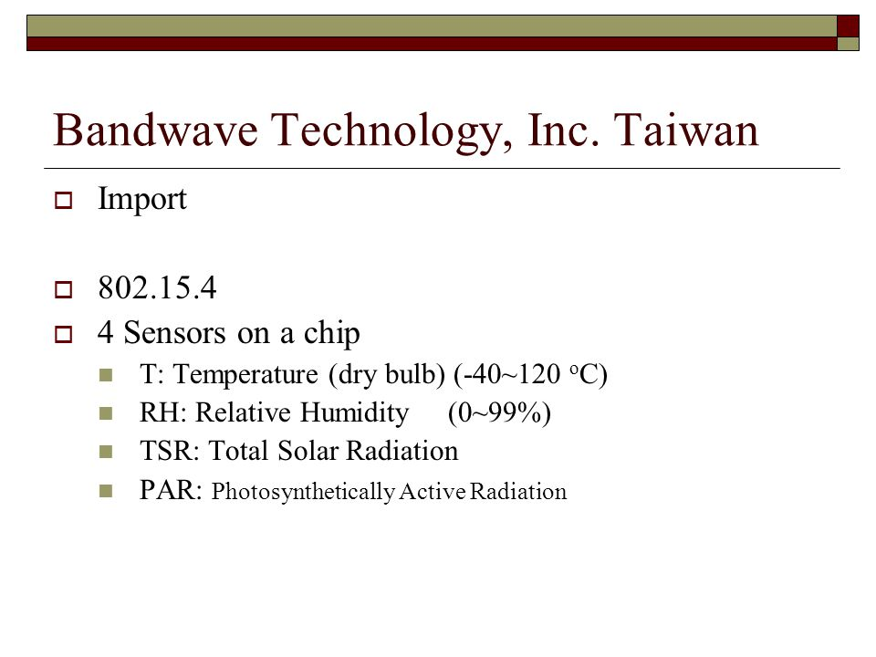 Bandwave Technology, Inc. Taiwan