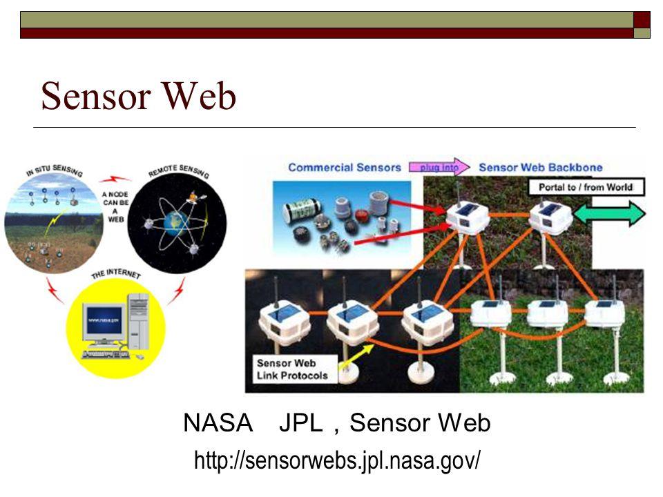 Sensor Web NASA JPL,Sensor Web http://sensorwebs.jpl.nasa.gov/
