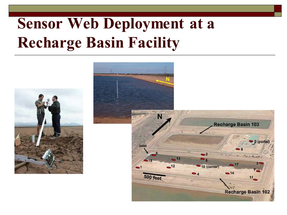 Sensor Web Deployment at a Recharge Basin Facility