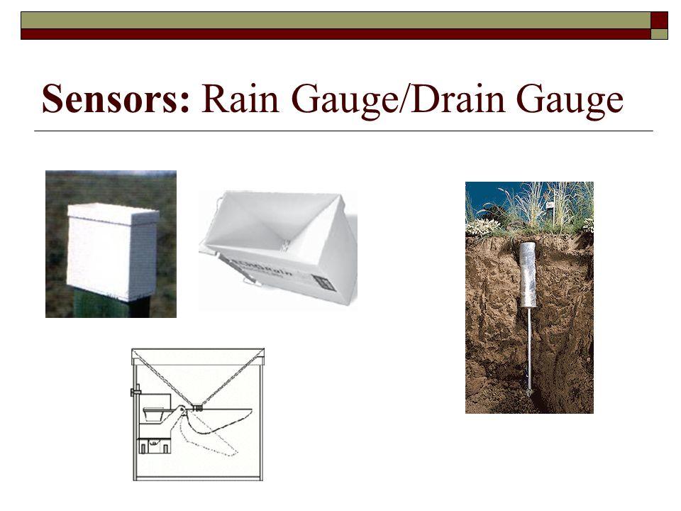 Sensors: Rain Gauge/Drain Gauge